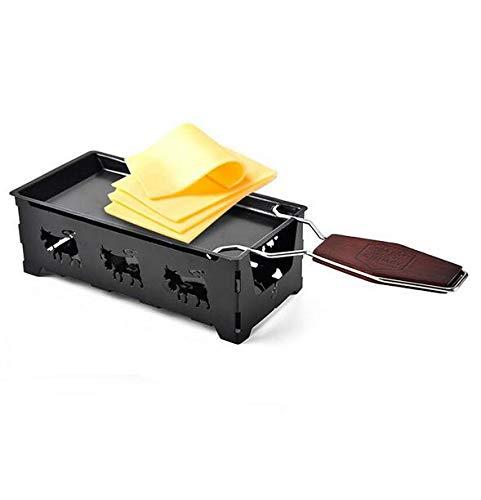 MEICHEN Mini Massivholzgriff Käseteller Backenwerkzeuge Käsetablett Heimbackofen Mikrowelle Verwendung Antihaft-Käseteller