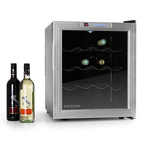 Klarstein B50 Cantinetta per vino mini frigo bar compatto (16 bottiglie, 50 litri, Display)