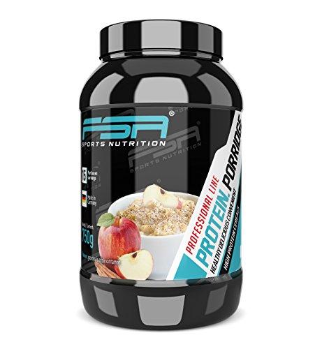 Protein Porridge mit glutenfreien Haferflocken und Proteinpulver, Hergestellt in Deutschland, FSA Nutrition - 750 g - Grandma´s Apple Cinnamon