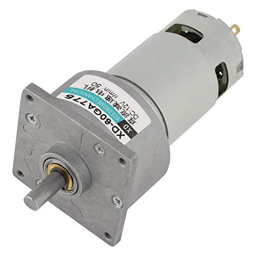 Micro motor, caja de cambios reductora de velocidad CW/CCW Motor de CC Múltiples modelos para electrónica automotriz para persianas enrollables eléctricas(12v50 turno, Azul)