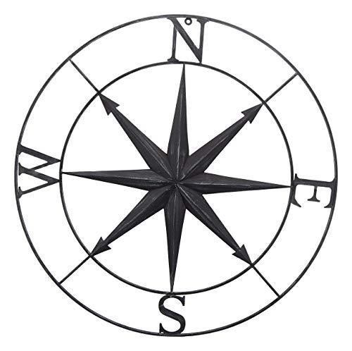 Bellaa 27451 Nautischer Kompass Stern Metall