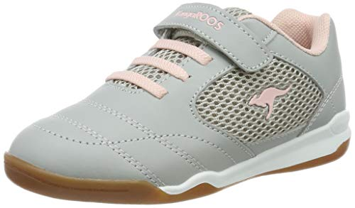 KangaROOS Incourt EV Unisex-Kinder Sneaker, Grau (Vapor Grey/Frost Pink 2063), 33 EU