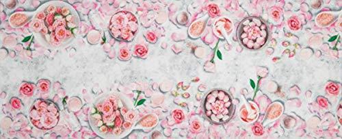 Confezioni.Giuliana Tappeto PASSATOIA Cucina Bagno Shabby Petali di Rosa cm 58x80 115 140 190 240 280 (58x115)