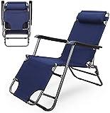 TUHFG Recliner Sun Loungers Recliners Zero Gravity Patio Deck <span class='highlight'>Chair</span> Reclining <span class='highlight'>Garden</span> <span class='highlight'>Chair</span> Outdoor <span class='highlight'>Folding</span> <span class='highlight'>Portable</span> <span class='highlight'>Rocking</span> <span class='highlight'>Chair</span> Supports 120kg Black (Color : Blue) (Color : Blue)
