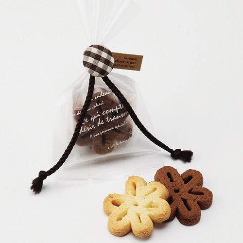 プチギフト お菓子 お礼 お返し 退職 ばらまき用『ココアの森 花のクッキー』挨拶 職場 会社 個包装 大量 業務用 (30個セット)