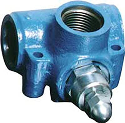 """CROSS Manufacturing 125110 SRD Series Iron One Piece Inline Relief Valve, 3/4"""" NPT Female, 500 to 1500 psi, Grey from CROSS Manufacturing"""