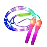<span class='highlight'><span class='highlight'>Einsgut</span></span> Children's skipping rope, LED light skipping rope, jump rope, adjustable length, colour changing, speed rope, perfect for children, fitness, girls and boys exercise.