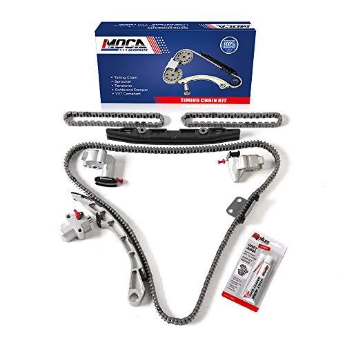 MOCA Engine Timing Chain Kit Compatible for 2007-2010 for NISSAN Altima Maxima Murano 3.5L V6 DOHC 24 Valve VQ35DE Code
