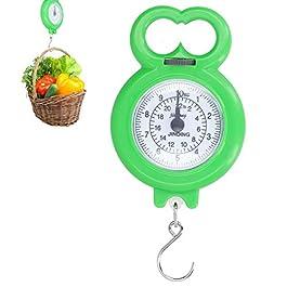 Balance à bagages, balances suspendues, affichage numérique pour mesurer le poids des achats de pêche(green)