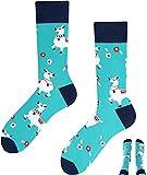 TODO Colours Lustige Socken mit Motiv - Mehrfarbige, Bunte, Verrückte für die Lebensfreude (Alpaca-Lama, numeric_43)