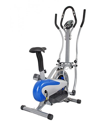 Zelex Multifunctional Elliptical or Cross Trainer with Steel Wheel and Center Handle Pulse