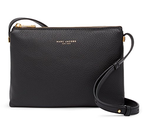 Marc Jacobs Black Crossbody Borsa a tracolla in pelle