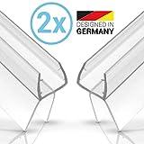 Balder 2 x 100cm Universal Premium Duschdichtung [Doppelpack] - Ideale Dichtung für 6mm, 7mm und 8mm Glastür - Langlebige Duschkabinen Gummilippe - Einfach zuschneidbarer Schwallschutz