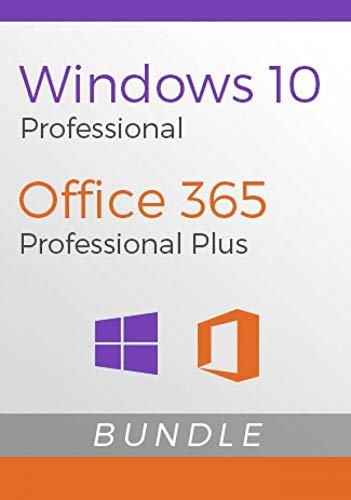 Chiave ESD Windows 10 Professional a vita + Account personale di 1 persona Office 365 per abbonamento combinato a vita per 5 dispositivi (Amazon Massage)