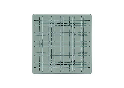 Spiegelau & Nachtmann, Servierplatte, Quadratisch, Kristallglas, Square, Größe: 28 cm, Schwarz, 101451