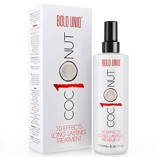 Coconut Heat Protection Spray - Leave-in Hair Protect Treatment for Dry Hair, Anti-Frizz, Fade...