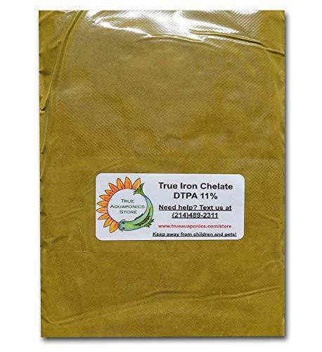 TrueNute Iron Chelate 11 Percent Fe DTPA for Aquaponics, Hydroponics, Soil. for Plants, Stronger Than Liquid (4 Pounds)