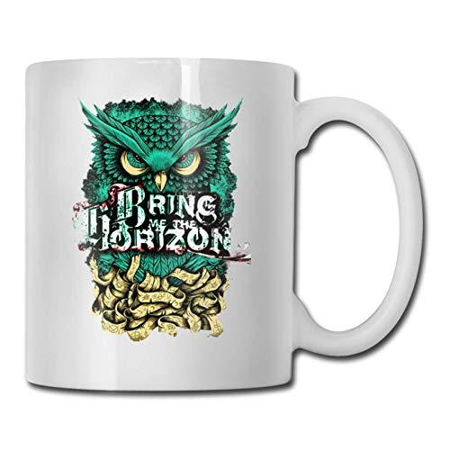 N\A Bring Me The Horizon Taza de café Duradera/Taza de té/Taza Taza Divertida Taza de café Regalos Divertidos para Hombre y Mujer