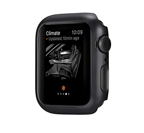 jemous Compatible con Cover per Apple Watch Series 4 44mm/40mm iWatch PC Plated Metal Bumper Protettivo Cover Custodia per Apple Watch Series 4 (Nero, 44mm)