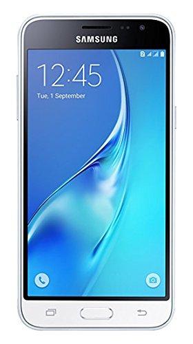 Samsung Galaxy J3 DUOS Smartphone (12,63 cm (5 Zoll) HD Super-AMOLED-Touchscreen, 8 GB, Android 5.1 Lollipop) weiß