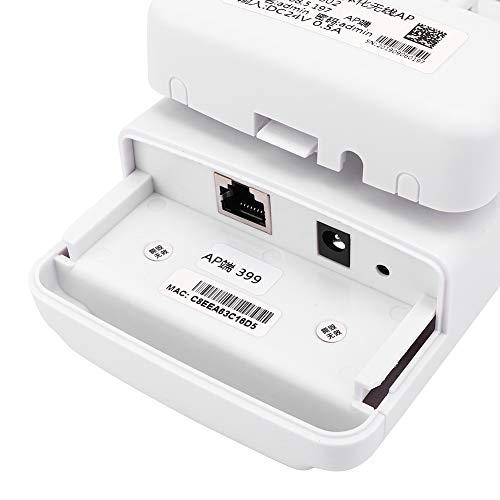 Amplificador de Señal de Red Inalámbrica, Amplificador de Señal de Enrutador Wifi 5.8g 11ac Point Ap Soluciones de Vigilancia de Red Inalámbrica 2km Para Monitoreo de Elevadores 110-240V(EU)