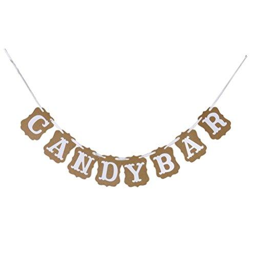 Pixnor Candy-Bar Party Dekorationen Ammer Banner