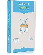Incutex 100x tiras nasales contra los ronquidos tiritas nasales antirronquidos para respirar mejor, talla L