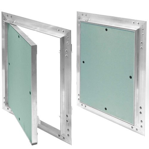 Revisionsklappe Aluminium-Rahmen 12,5 mm GK-Einlage Gipskarton Revisionstür Alu (150 x 200)