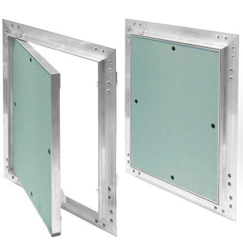 Revisionsklappe Aluminium-Rahmen 12,5 mm GK-Einlage Gipskarton Revisionstür Alu (300 x 300)