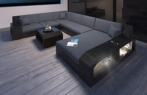 Moderne Rotin Canapé Matera comme Design en Forme de U Intérieur de la Maison XXL