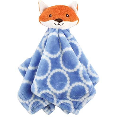 Hudson Baby Unisex Baby Security Blanket, Blue Fox, One Size