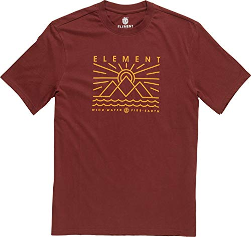 Element Herren Oddie SS Tees, Port, M