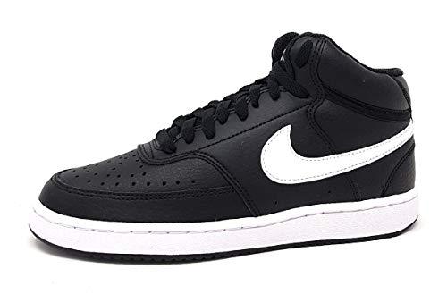 Nike Wmns Court Vision Mid, Scarpe da Basket Donna, Nero (Black/White 001), 39 EU
