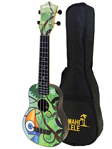 Mahilele 3.0 ukulele soprano bluebird con custodia