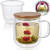 Teabloom POSY Porcelain Tea Mug with Infuser(Pink)