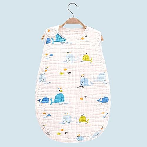 Saco de Dormir para Bebé - Saco de Dormir Bebé Verano Saco de Dormir Bebé de 100% al Orgánico Algodón Unisex para Bebé de 0 a 4 años (L, Ballena)