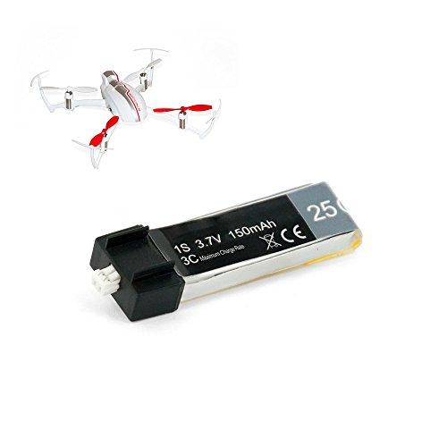 Yuneec Akku 150mAh für Inductrix FPV Mini Drohne Smart Flying18 - Lipo 1-Cell 3.7V 25C Ersatz