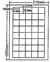 SCJ-15-2 OAラベル プリンタ用光沢タイプラベル (34.4×33.9mm 40面付け A4判) 2梱(カラーインクジェットプリンタ用光沢タイプラ...
