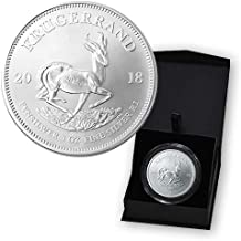 2018 ZA South African Krugerrand 1 Troy Oz Silver Bullion in Capsule and Presentation Box 1 Rand Brilliant Uncirculated