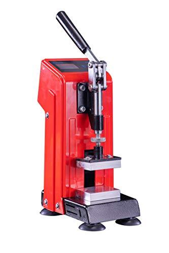 Kolophoniumpresse, 0,5 T, 5 x 7 cm, 400 W, manuelle Presse, tragbar, doppelseitige Heizung, hoher Druck & Timing