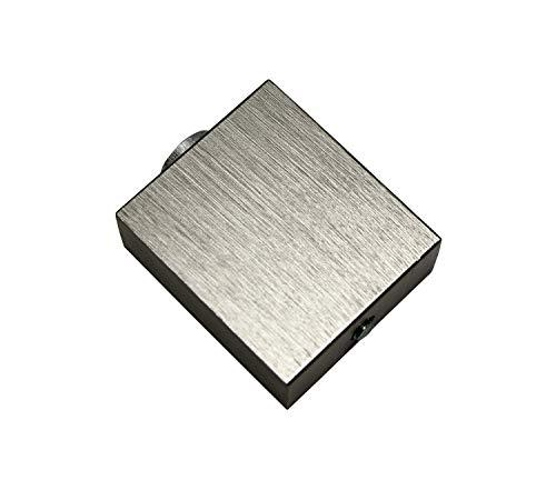 Gardinia Deckenträger für Luxor rechteckig stahl-gebürstet 3,5 cm, 3.5 cm