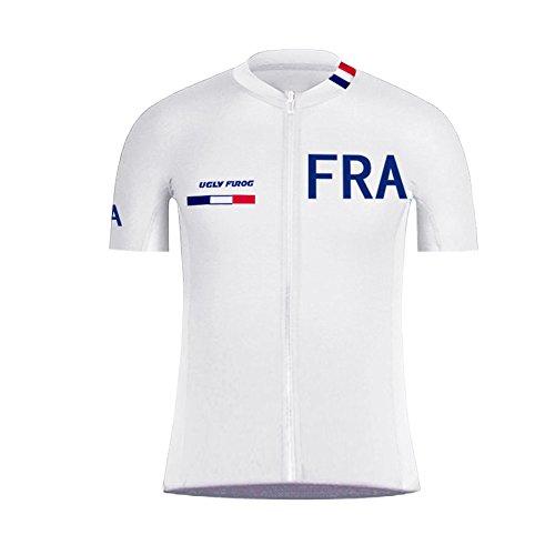 Uglyfrog Maillot de Cyclisme Homme Vêtements de vélo Vêtement de vélo Maillot MTB Maillot Manches Courtes Eté A03