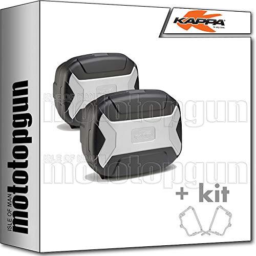 kappa maletas laterales kvc35pack2 k'vector 35 lt + portamaletas laterales fijacion rapida monokey compatible con bmw f 800 r 2019 19