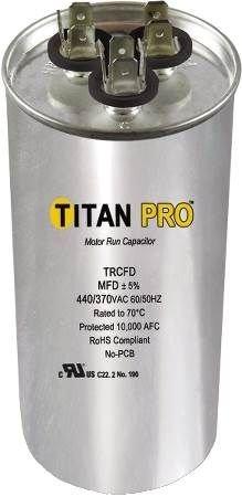 Titan Titan Pro Dual Rated Motor Run Capacitor Round Trcfd455