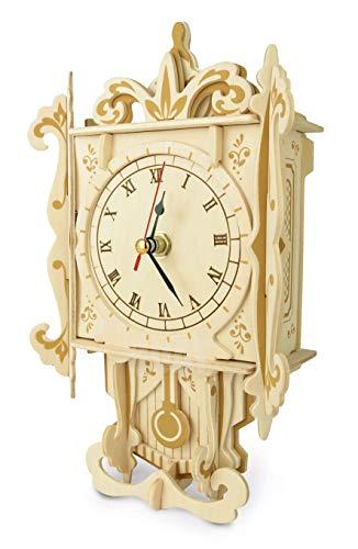 Quay F004 Pendulum Clock Woodcraft Construction Kit FSC, Brown