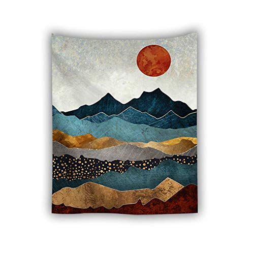 AMYZ Wall Tapestries,Psychedelic Trippy Bohemian Hippie Wall Tapestry,Nordic Abstract Boho Print Landscape Art Room Decor Fabric for Living Room Bedroom,150X130cm