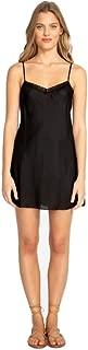 Women's Silk Habutai Slip Dress, Black, Medium