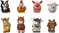 """Figure pack with 8 farm animal friends Includes llama, chicken, cow, goat, horse, pig, sheep and dog figures Figures sized just right for toddlers to grasp Bring these figures to the Little People Caring for Animals Farm playset for more """"wild"""" fun! ..."""