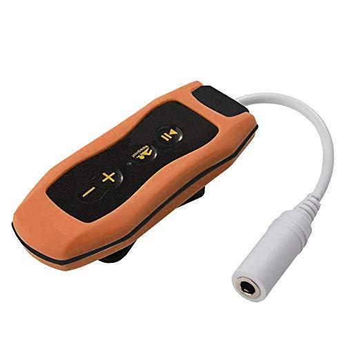 Tree2018 Reproductor de música MP3 resistente al agua para regadas de natación, deportes acuáticos, 8 GB