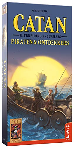 999 Games 999-Kol38 Catan: Piraten & Ontdekkers 5/6 Spelers Bordspel Bordspel, Multikleur